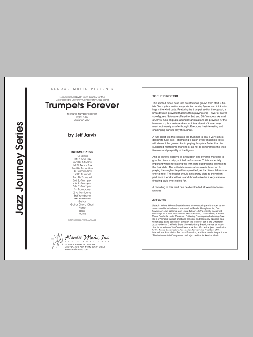 Trumpets Forever (COMPLETE) sheet music for jazz band by Jarvis