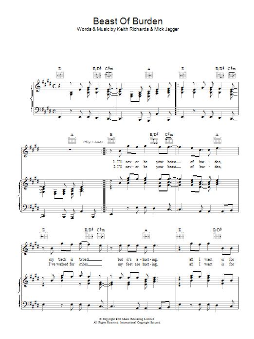 Sheet Music Digital Files To Print - Licensed Mick Jagger Digital ...