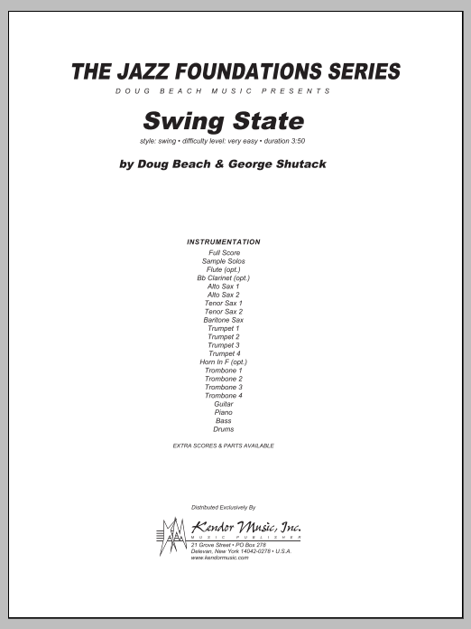 Swing State (COMPLETE) sheet music for jazz band by Doug Beach
