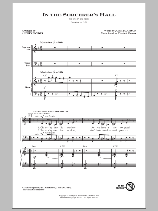 Partition chorale In The Sorcerer's Hall de Audrey Snyder - SATB