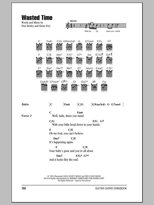 Sheet Music Digital Files To Print - Licensed Don Henley Digital ...