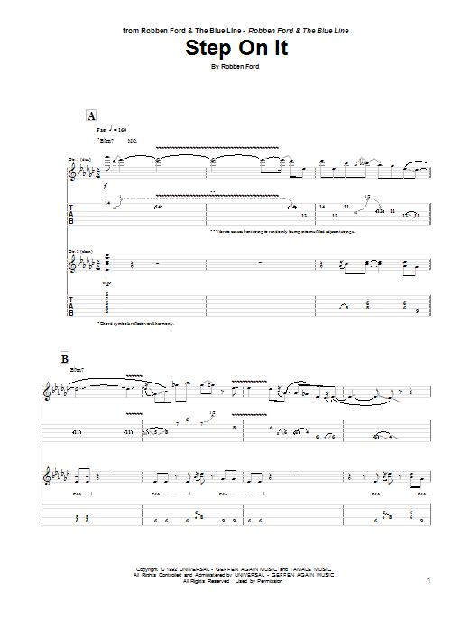 Tablature guitare Step On It de Robben Ford - Tablature Guitare