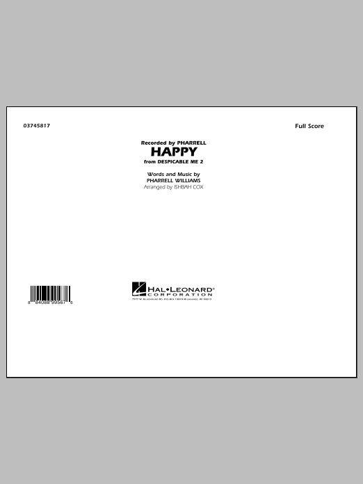 Happy (from Despicable Me 2) (COMPLETE) sheet music for marching band by Ishbah Cox