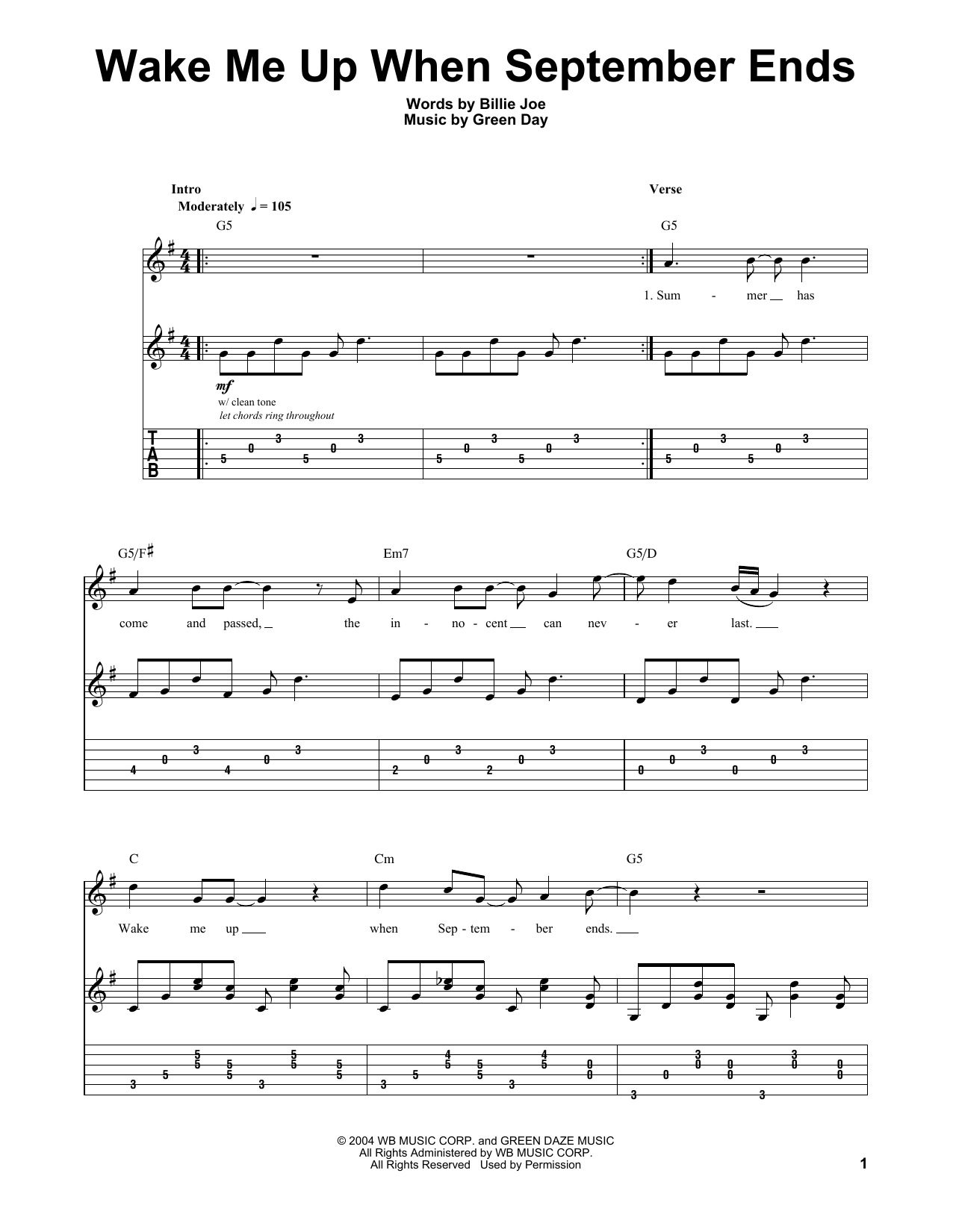 Holiday chords  Green Day  AmChords