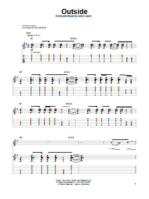 Staind Outside Chords Ultimate Guitar Archive - oukas.info