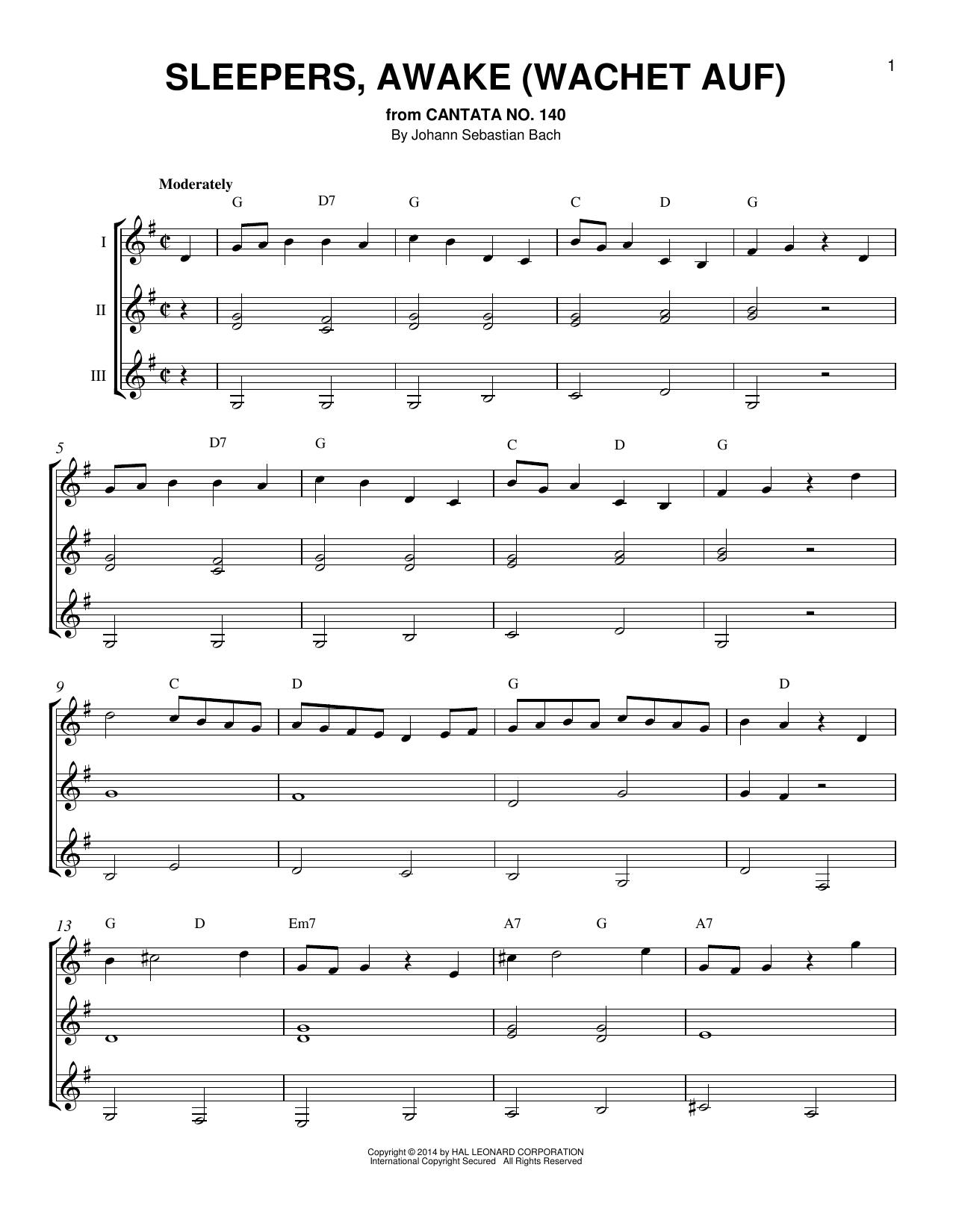Partition autre Sleepers, Awake (Wachet Auf) de Johann Sebastian Bach - Autre