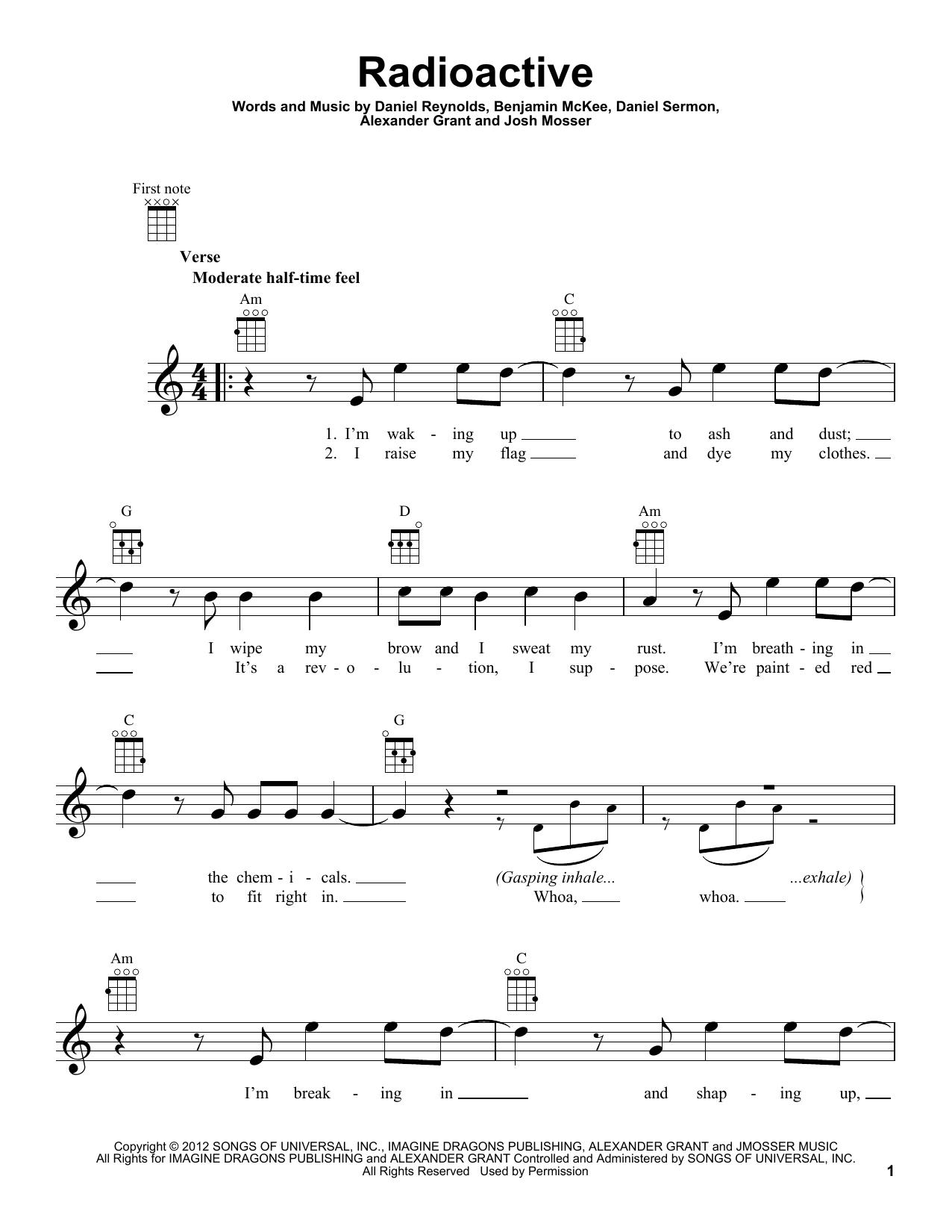Radioactive by Imagine Dragons - Ukulele - Guitar Instructor