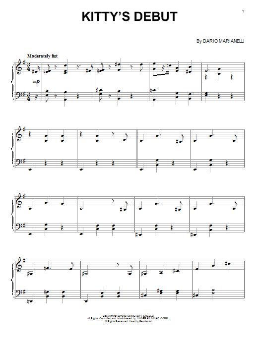 Partition piano Kitty's Debut de Dario Marianelli - Piano Solo