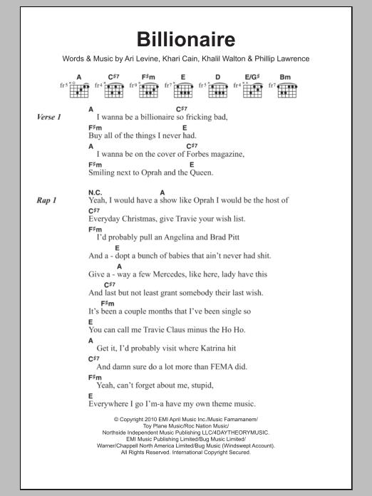 Sheet Music Digital Files To Print - Licensed Travis McCoy Digital ...