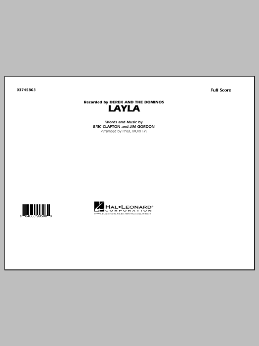 Layla (COMPLETE) sheet music for marching band by Paul Murtha