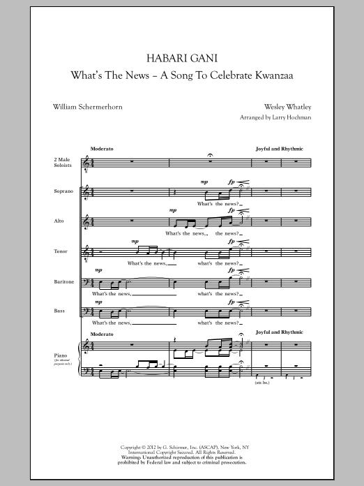 Partition chorale Habari Gani (What's The News) (arr. Larry Hochman) de  - SATB