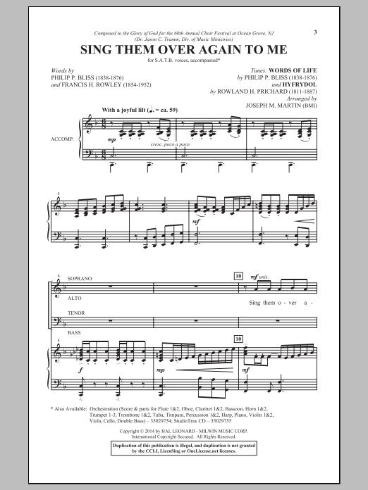 Partition chorale Wonderful Words Of Life de Joseph M. Martin - SATB