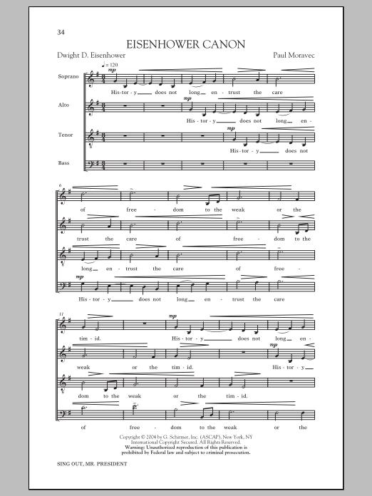 Partition chorale Eisenhower Round de  - SATB
