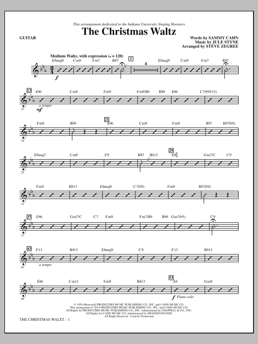 The Christmas Waltz (complete set of parts) sheet music for orchestra/band by Steve Zegree