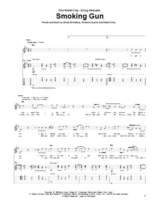Tablature guitare Smoking Gun de Robert Cray - Tablature Guitare