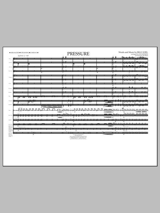 Pressure (COMPLETE) sheet music for marching band by Jay Dawson