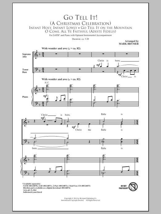 Partition chorale Go Tell It! (A Christmas Celebration) de Mark Brymer - SATB
