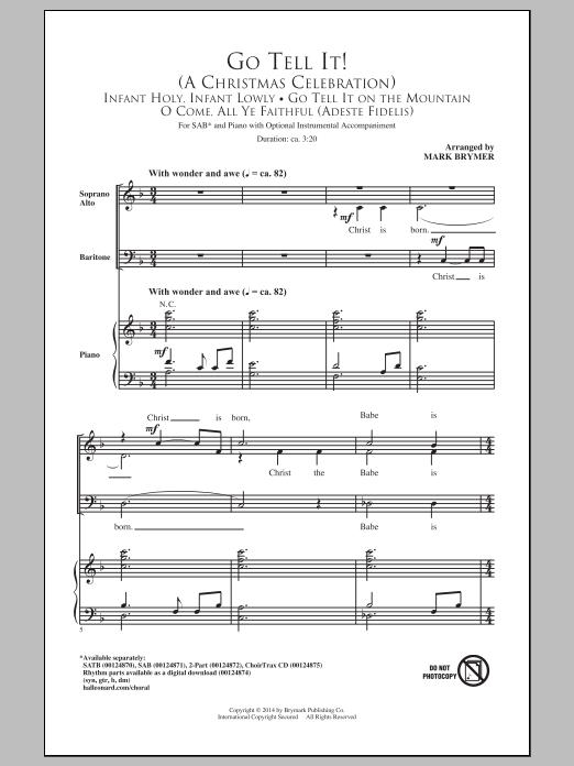 Partition chorale Go Tell It! (A Christmas Celebration) de Mark Brymer - SAB