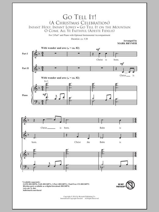 Partition chorale Go Tell It! (A Christmas Celebration) de Mark Brymer - 2 voix