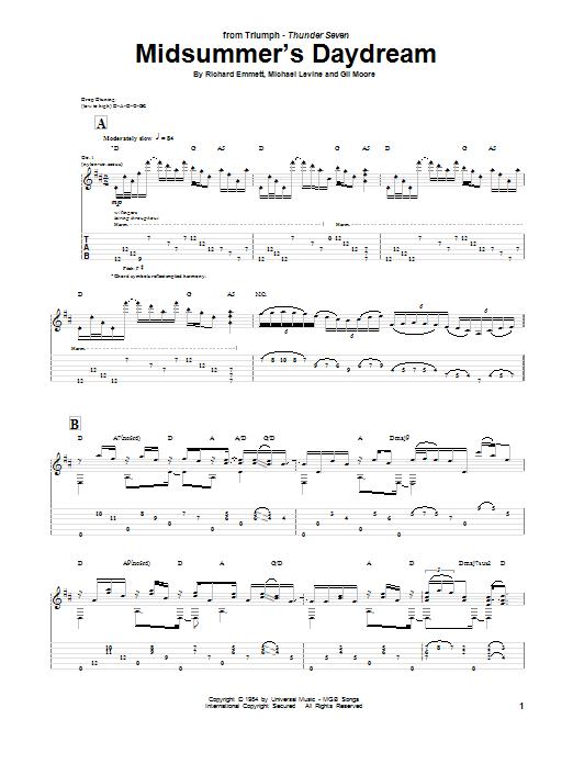 Tablature guitare Midsummer's Daydream de Triumph - Tablature Guitare