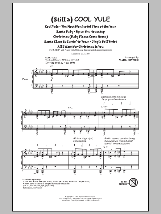 Partition chorale All I Want For Christmas Is You de Lady Antebellum - SATB