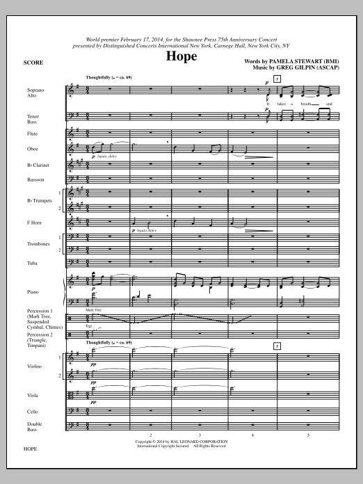 Hope (COMPLETE) sheet music for orchestra/band (Orchestra) by Paul Langford