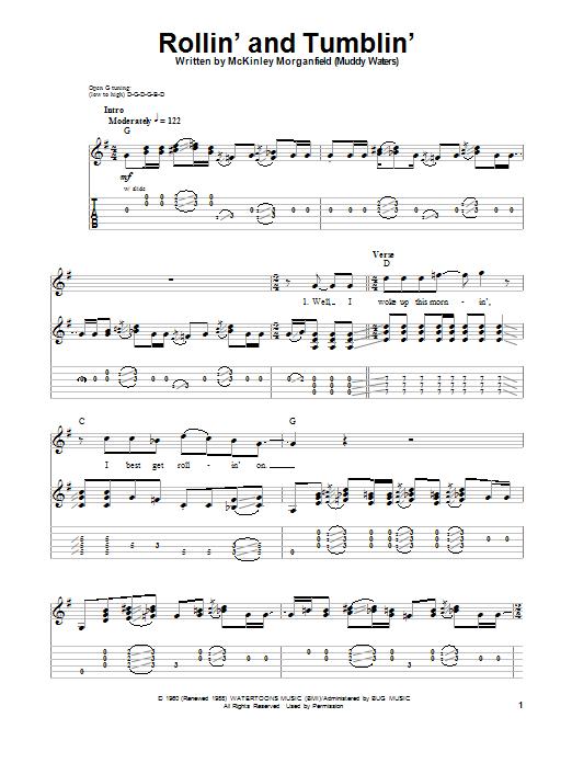 Tablature guitare Rollin' And Tumblin' de Eric Clapton - Tablature Guitare