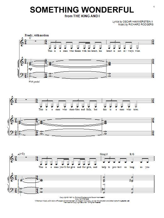 Partition piano Something Wonderful de Nina Simone - Piano Voix