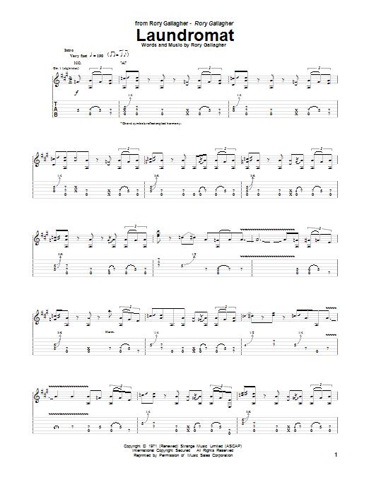 Tablature guitare Laudromat de Rory Gallagher - Tablature Guitare