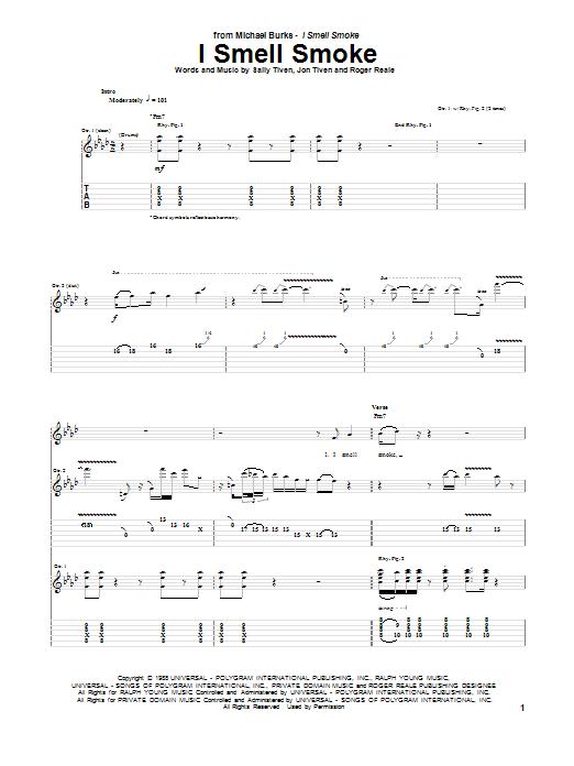 Tablature guitare I Smell Smoke de Michael Burks - Tablature Guitare
