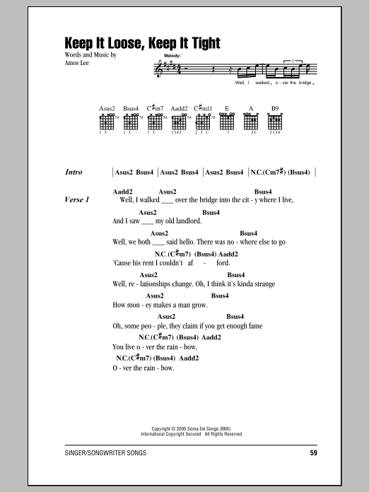 Keep It Loose, Keep It Tight : Sheet Music Direct