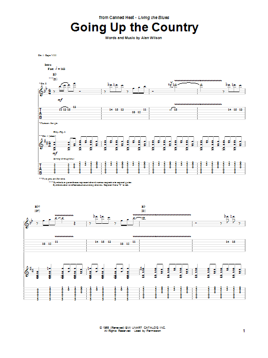 Going Up The Country Guitar Tab by Canned Heat (Guitar Tab ... Alicia Keys Girl On Fire