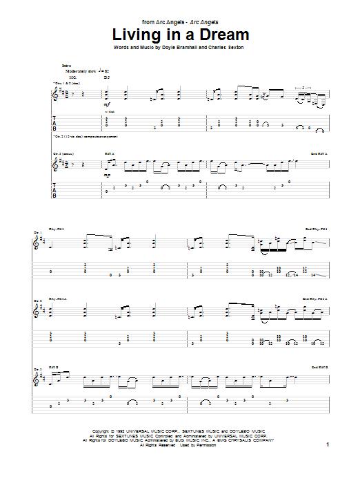 Tablature guitare Living In A Dream de Arc Angels - Tablature Guitare