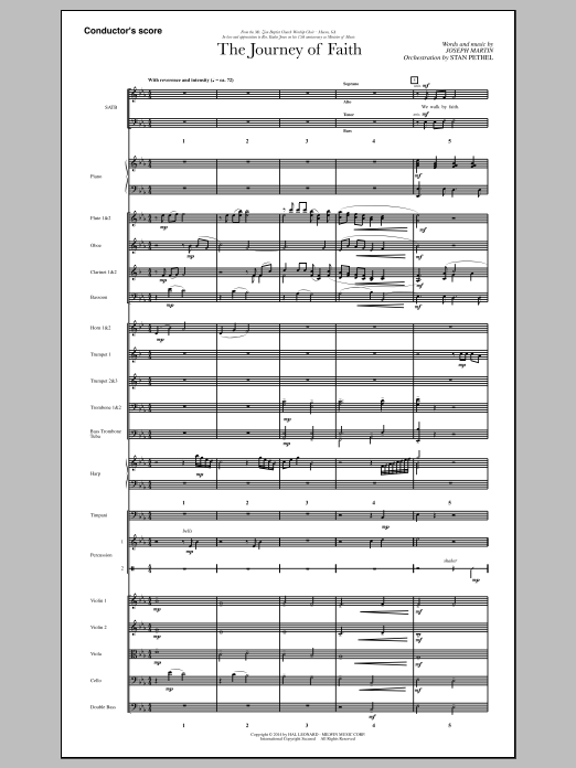 The Journey of Faith (COMPLETE) sheet music for orchestra/band by Joseph M. Martin