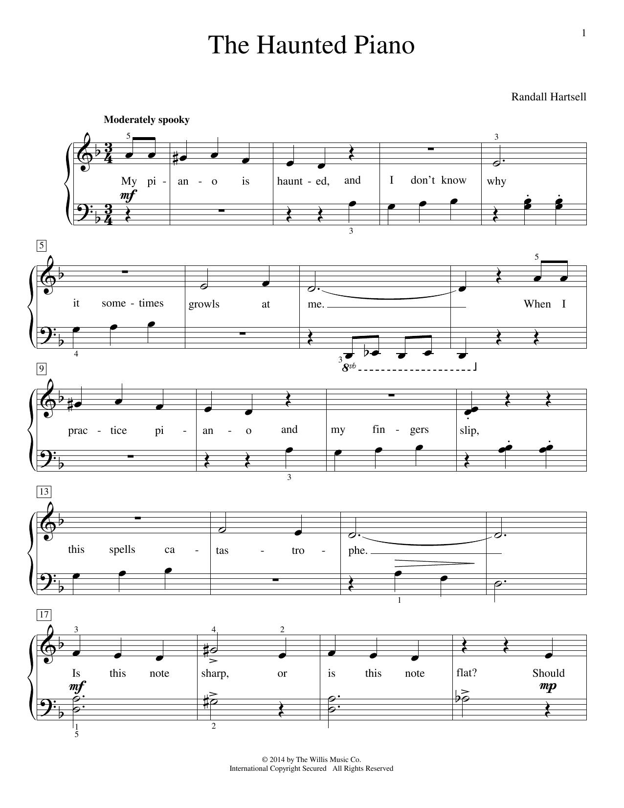 Partition piano The Haunted Piano de Randall Hartsell - Piano Facile