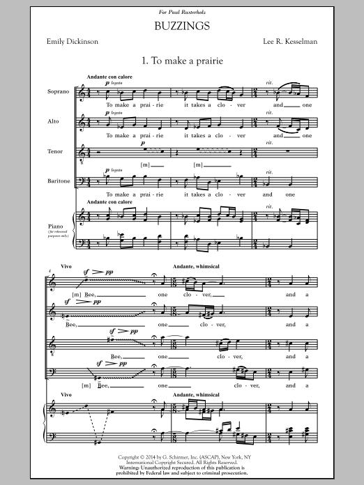 Partition chorale Buzzings de  - SATB