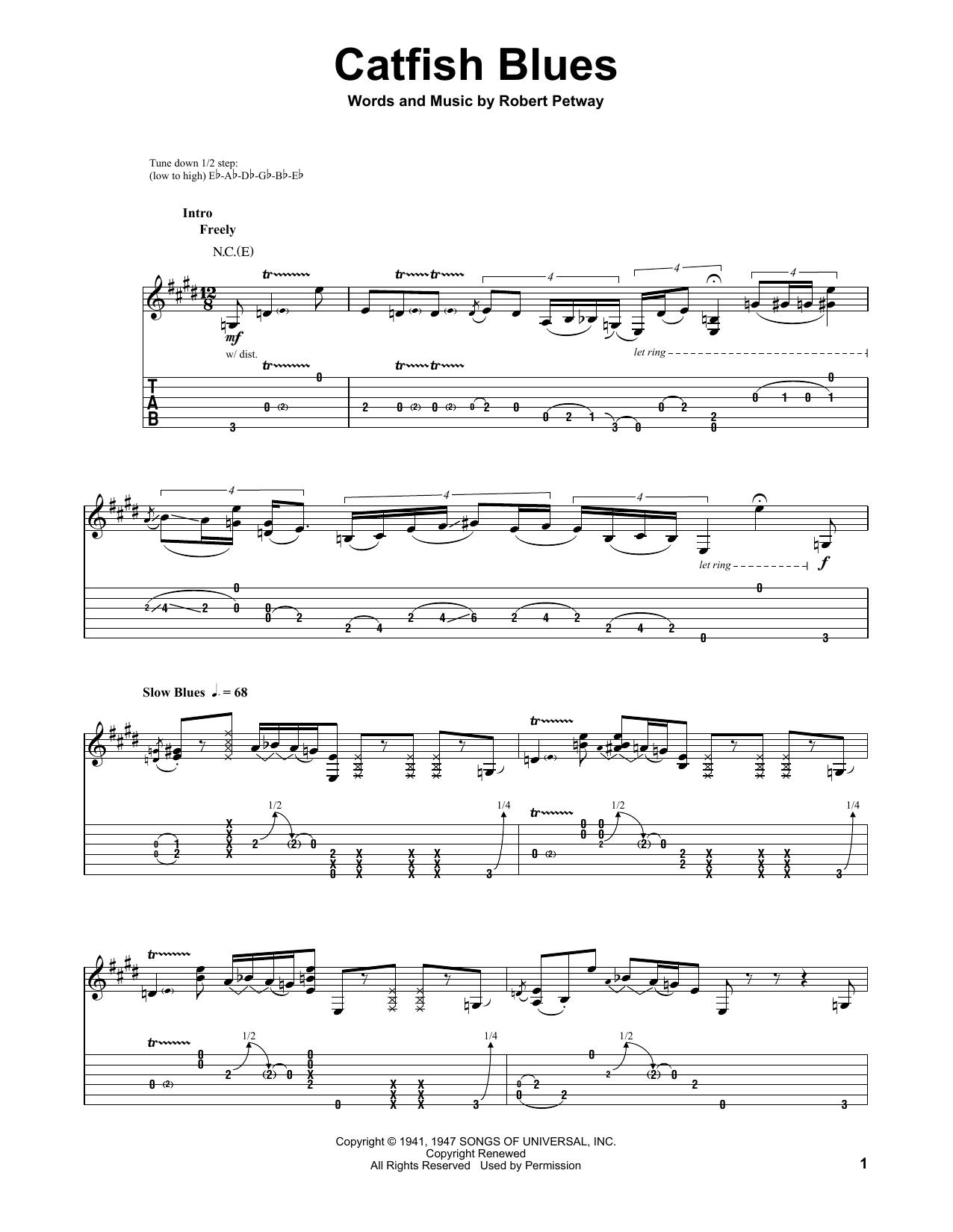 Tablature guitare Catfish Blues de Jimi Hendrix - Tablature Guitare