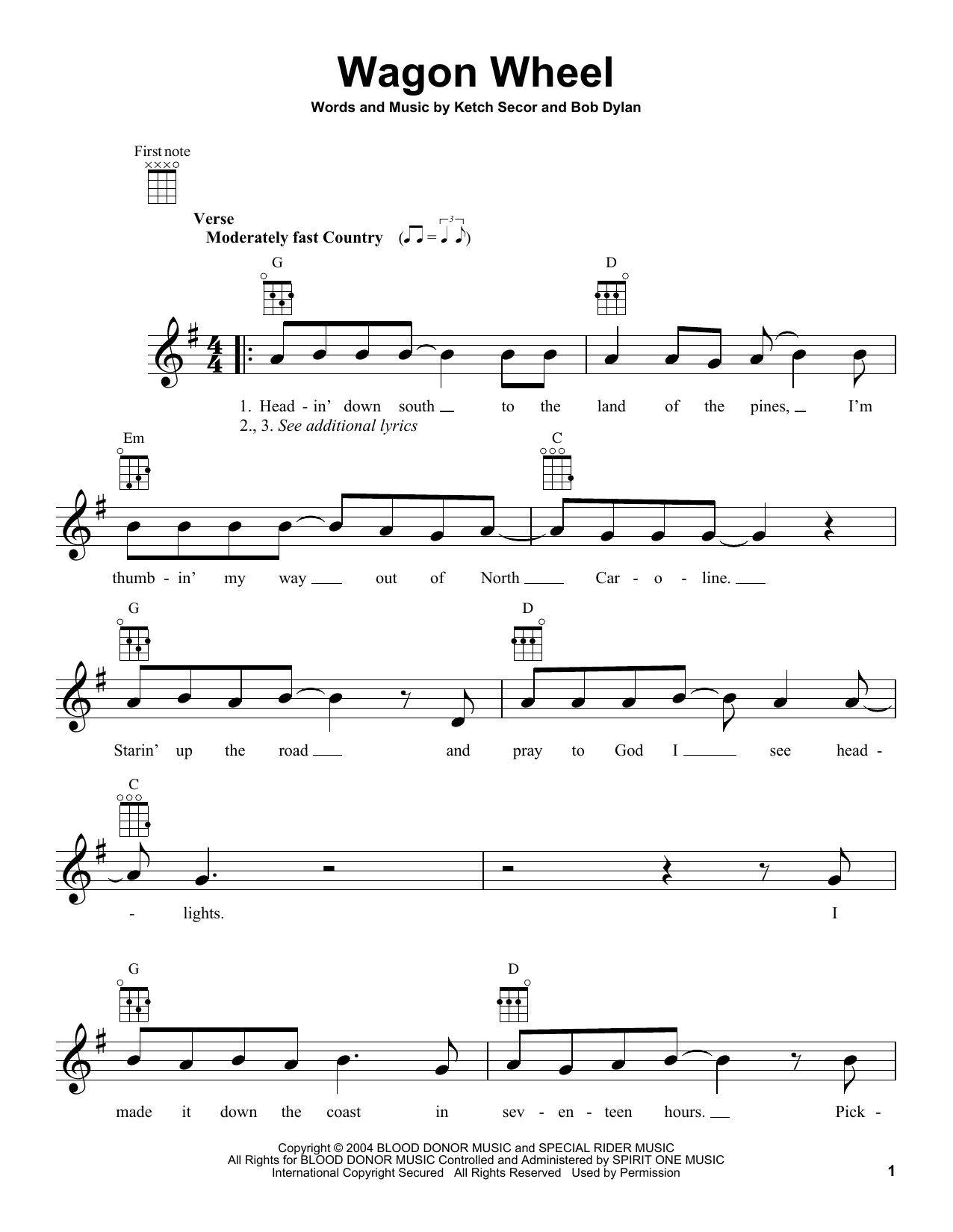 Violin wagon wheel violin tabs : Violin Sheet Music Wagon Wheel - wagon wheel ketch secor version ...