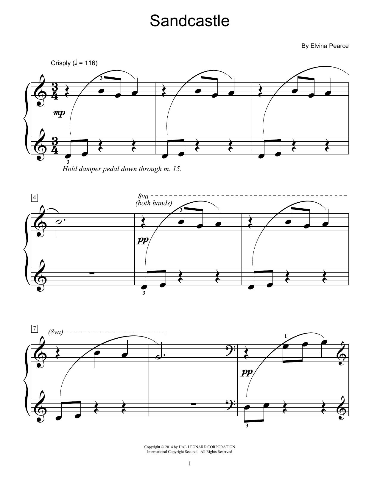 Partition piano Sand Castle de Elvina Pearce - Piano Facile
