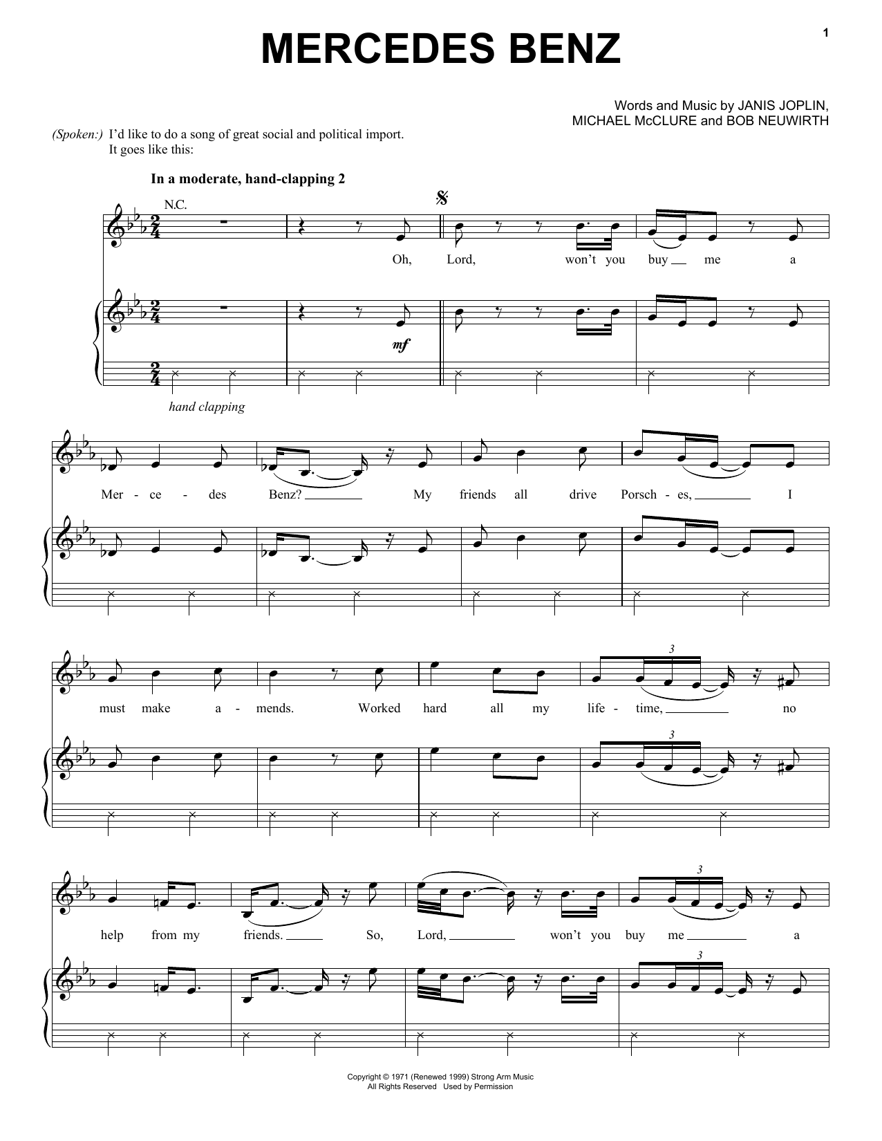 mercedes benz sheet music direct