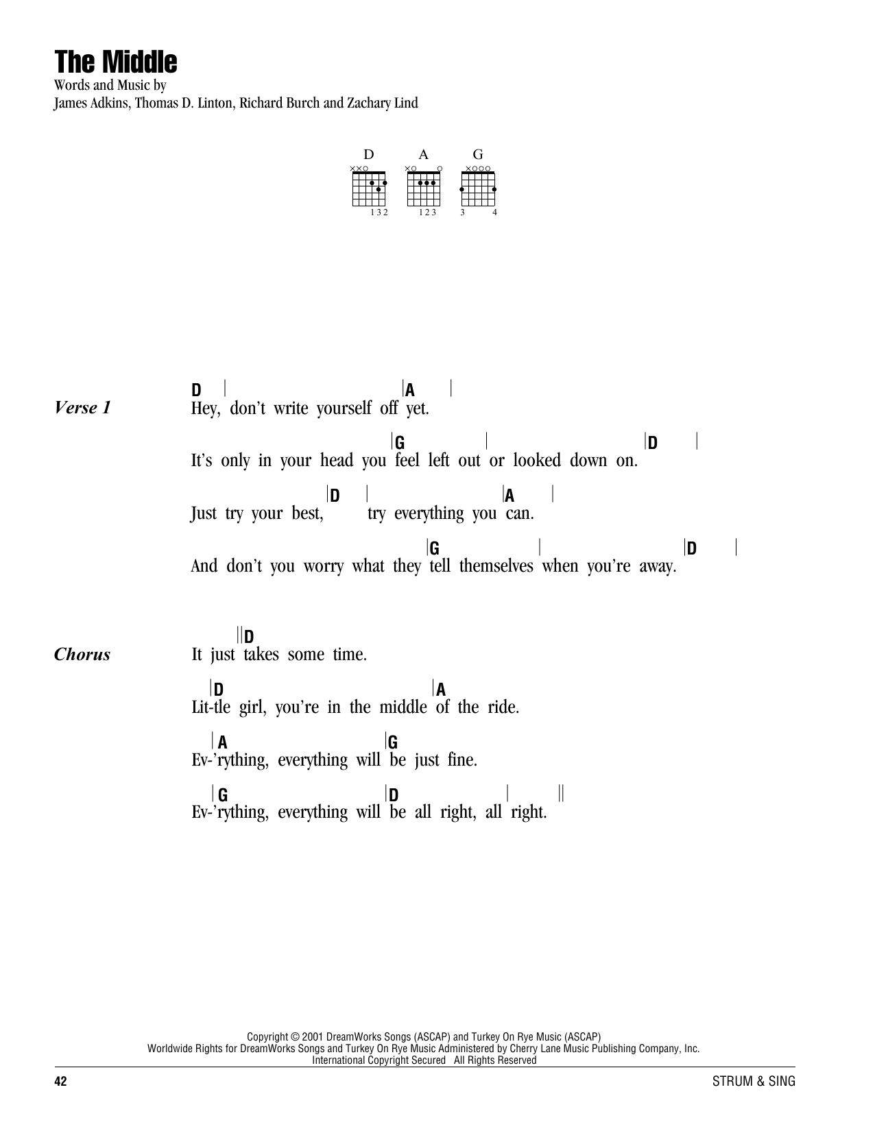 Sheet Music Digital Files To Print Licensed Jimmy Eat World