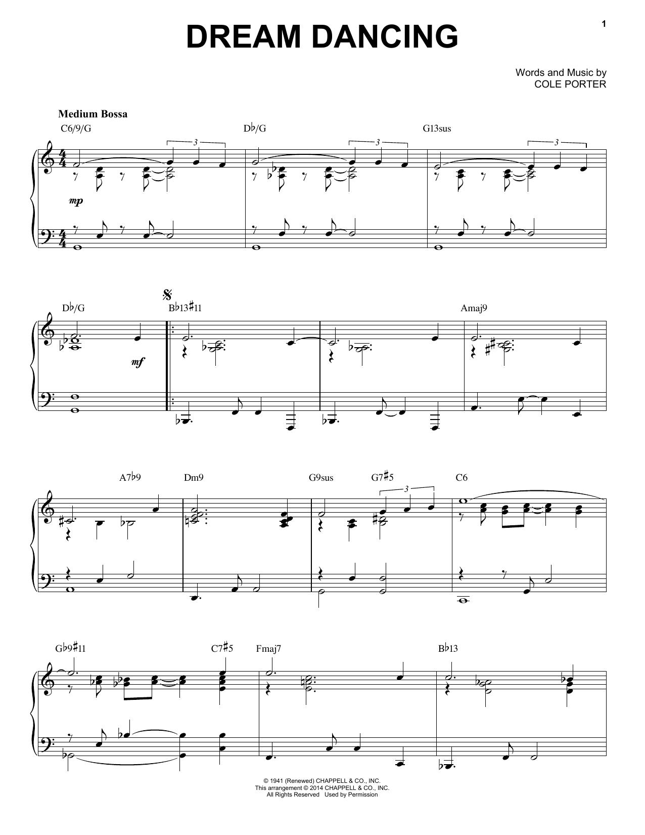 Partition piano Dream Dancing de Cole Porter - Piano Solo