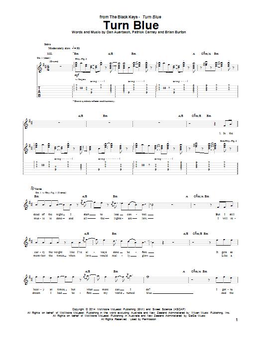 Tablature guitare Turn Blue de The Black Keys - Tablature Guitare