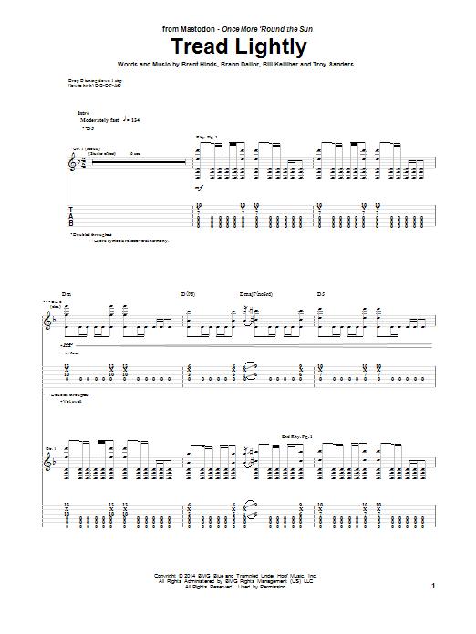 Tablature guitare Tread Lightly de Mastodon - Tablature Guitare