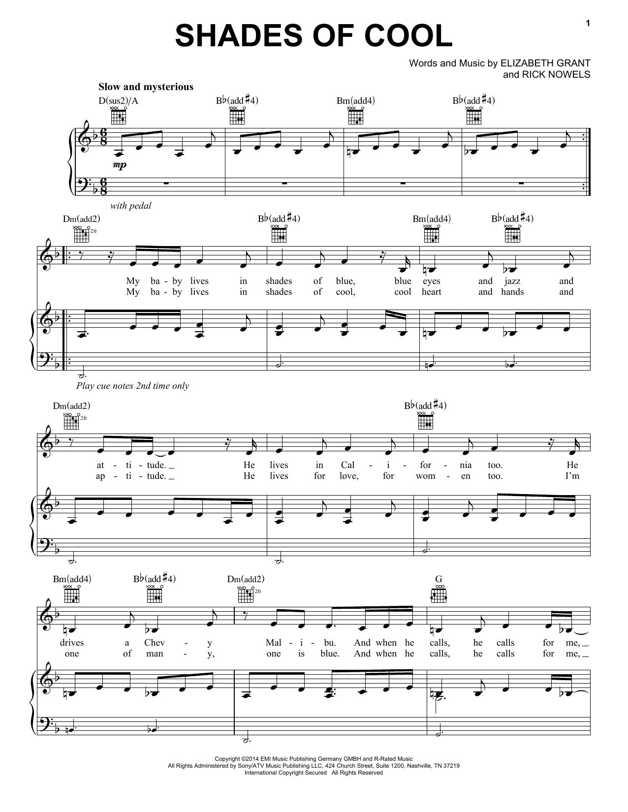 Sheet Music Digital Files To Print Licensed Lana Del Rey Digital