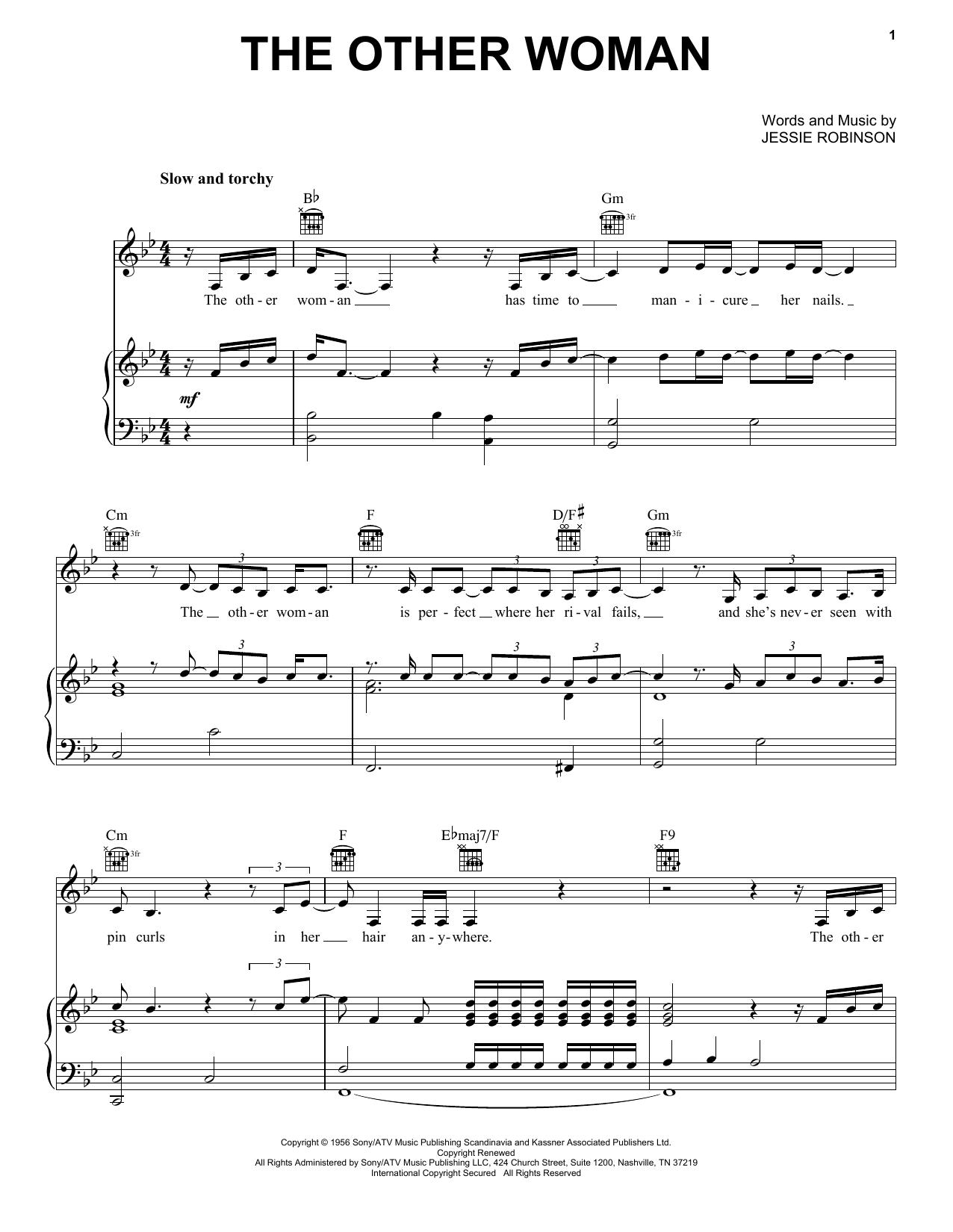 Partition piano The Other Woman de Lana Del Rey - Piano Voix Guitare (Mélodie Main Droite)