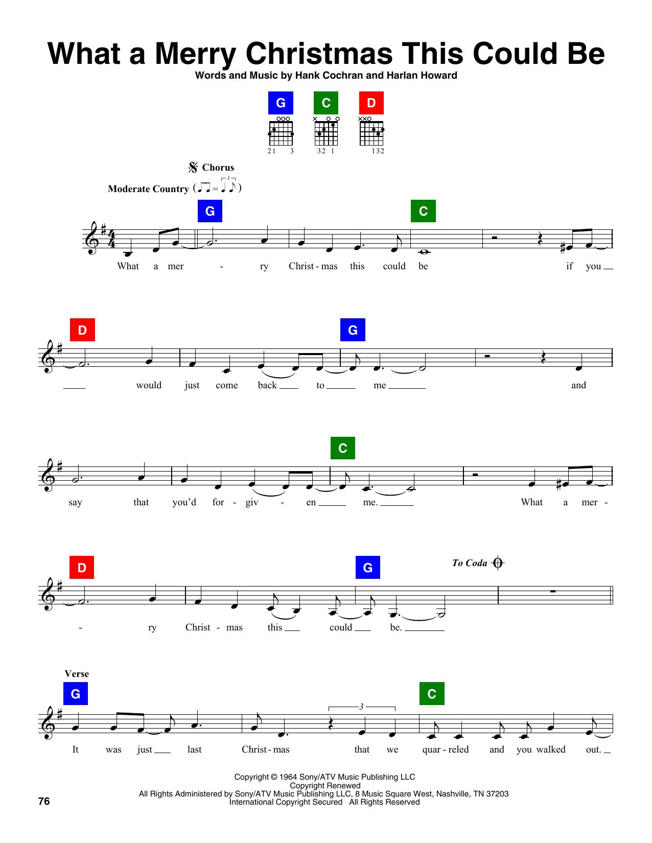 Partition autre What A Merry Christmas This Could Be de Hank Cochran & Harlan Howard - Autre