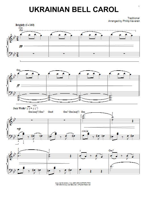 Partition piano Ukrainian Bell Carol de Traditional - Piano Solo