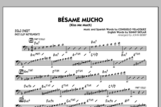 Sheet Music Digital Files To Print - Licensed Consuelo Velazquez ...