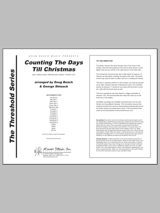 Counting The Days Till Christmas (COMPLETE) sheet music for jazz band by George Shutack